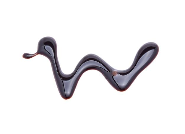 Sauce au chocolat isolé sur blanc