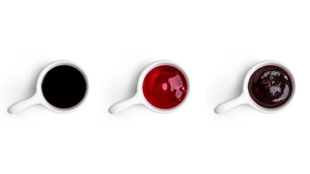 Sauces isolées sur blanc