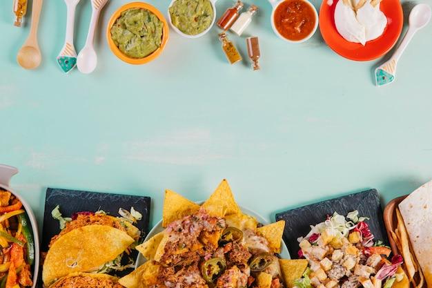 Sauces et plats mexicains