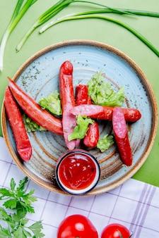 Saucisses de chasseurs fumées au ketchup