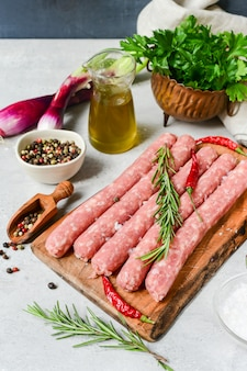 Saucisses crues italien