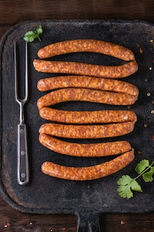 Saucisses crues pour barbecue