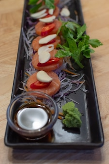 Saumon à la wasabi