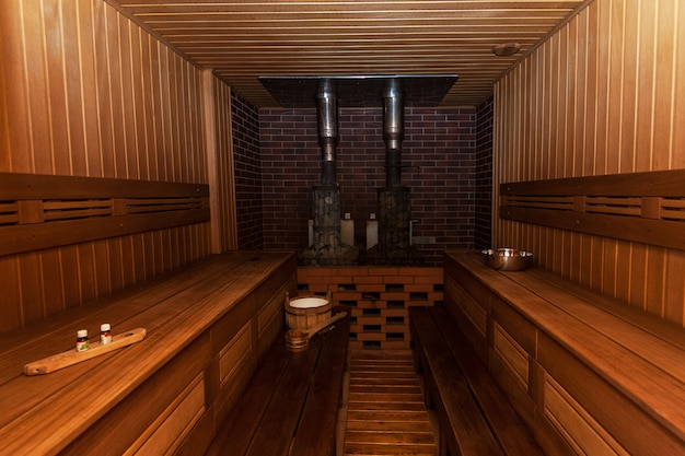 Sauna russe interier