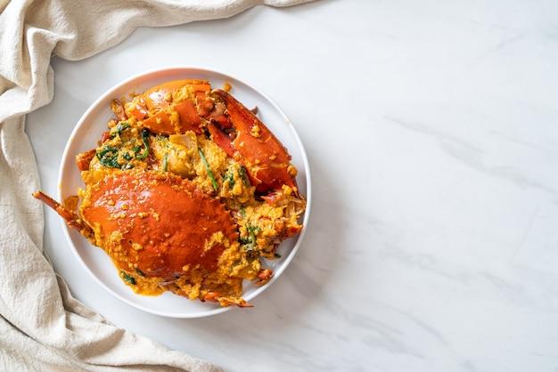 Sauté de crabe au curry en poudre - style fruits de mer