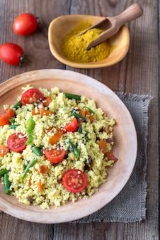 Sauté de millet aux légumes