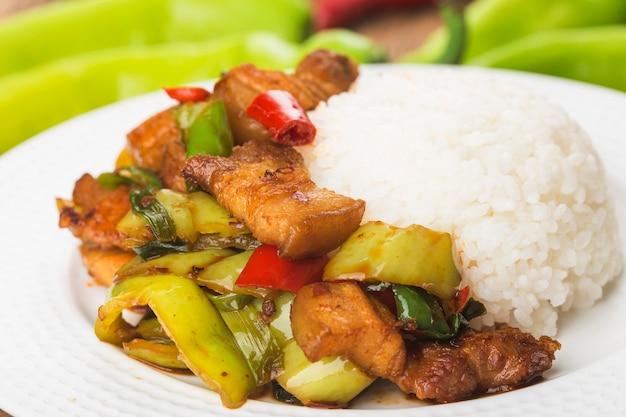 Sauté de porc au riz