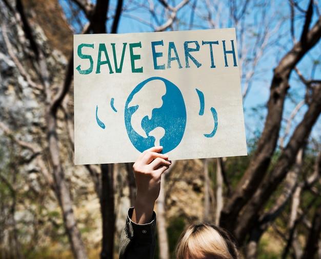 Sauver l'environnement terrestre protéger graphique d'assistance