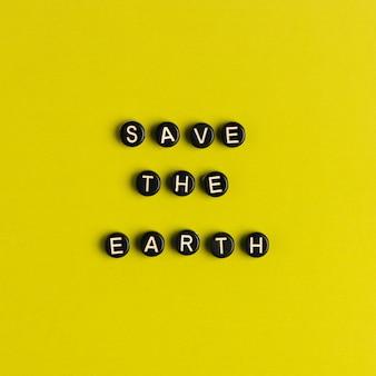 Sauver la terre, citation avec des perles