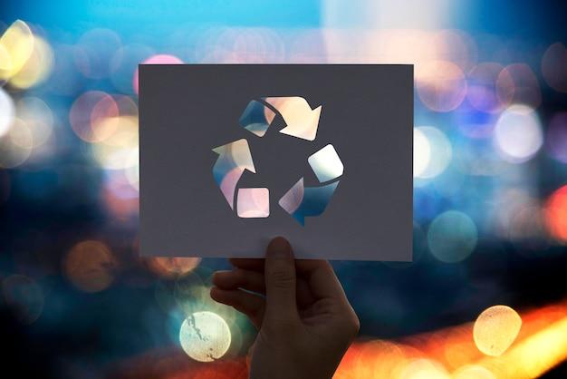 Save the world ecology conservation de l'environnement papier perforé recycler