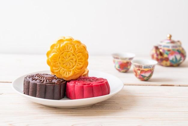 Saveur chinoise de crème pâtissière de gâteau de lune pour la fête de la mi-automne