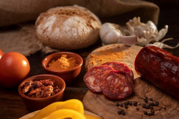 Savoureuse composition de chorizo traditionnel