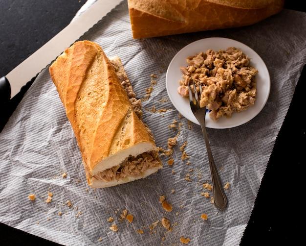 Savoureux sandwich au thon 2