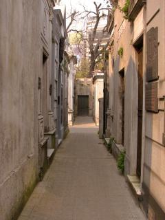 Scape cimetière, hanté, rue