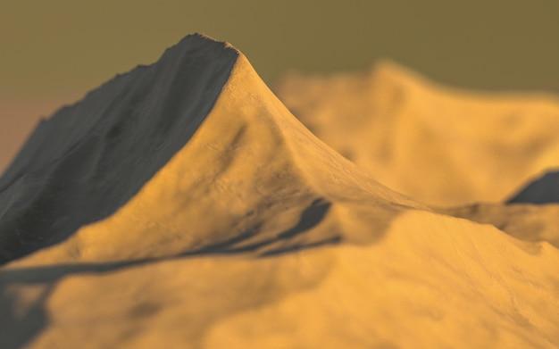 Scène 3d de montagne simple