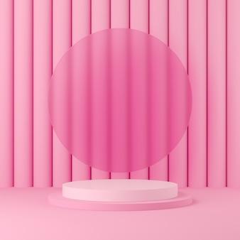 Scène abstraite couleur pastel avec fond de podium forme géométrie
