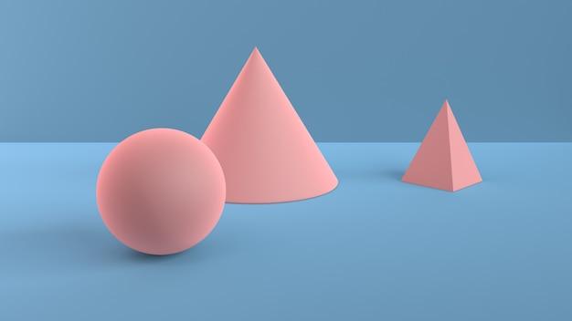 Scène abstraite de formes géométriques