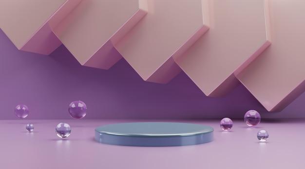 Scène abstraite pour l'affichage du produit rendu 3d