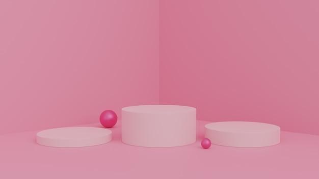 Scène abstraite pour l'affichage du produit