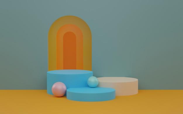 Scène abstraite pour le rendu 3d de l'affichage du produit.