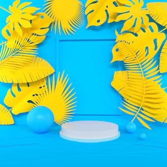 Scène de couleur pastel de forme géométrique abstraite minimale