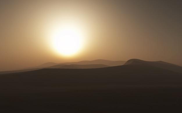 Scène de désert hazy