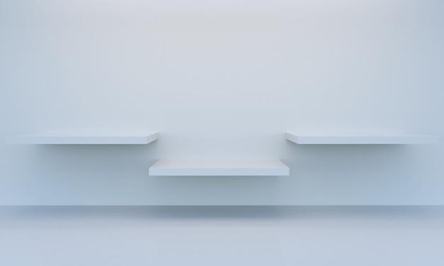 Scène d'escalier minimale pour l'affichage du produit, rendu 3d