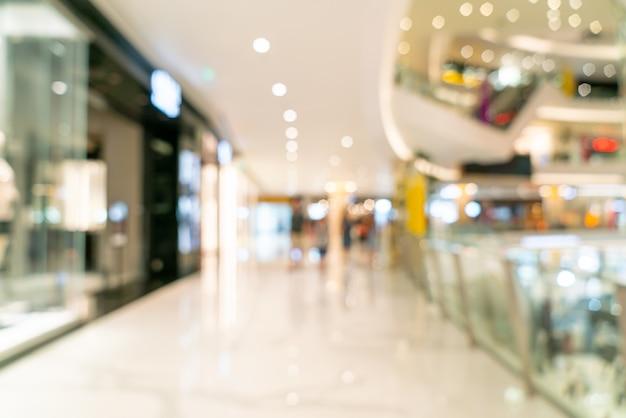 Scène floue au centre commercial de luxe