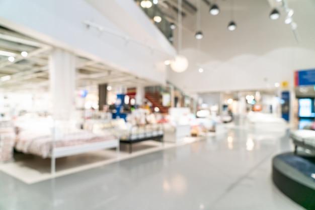 Scène floue à l'intérieur du magasin de décoration et d'entrepôt