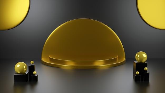 Scène de fond géométrique abstrait de rendu 3d pour le produit show