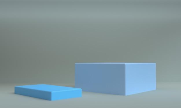 Scène de forme abstraite minimaliste