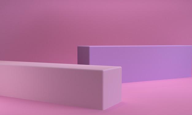 Scène de forme géométrique minimale, rendu 3d.