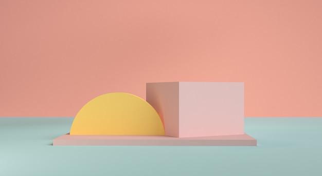 Scène de forme géométrique style minimal