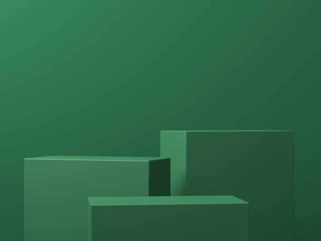 Scène de maquette d'arrière-plan minimale avec podium pour le rendu 3d de l'affichage du produit