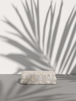 Scène de maquette pour le produit d'affichage. rendu 3d