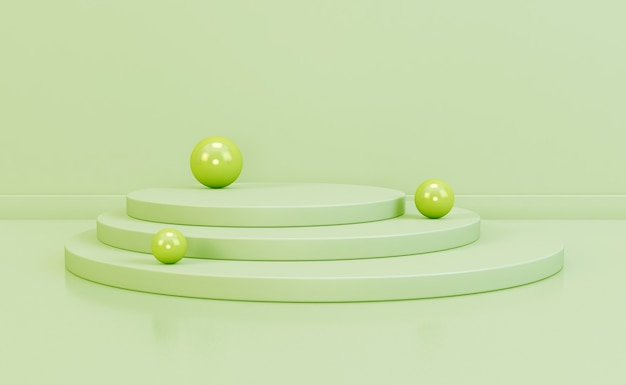 Scène minimale avec composition podium cylindre vide pour produit