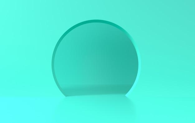 Scène de mur avec arc de couleur vert pastel, fond minimal