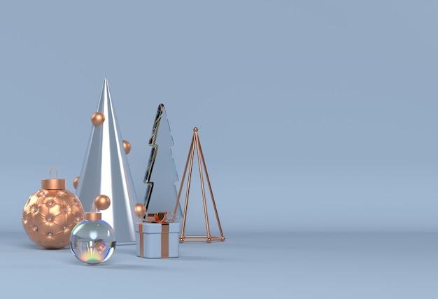 Scène de noël avec des éléments 3d