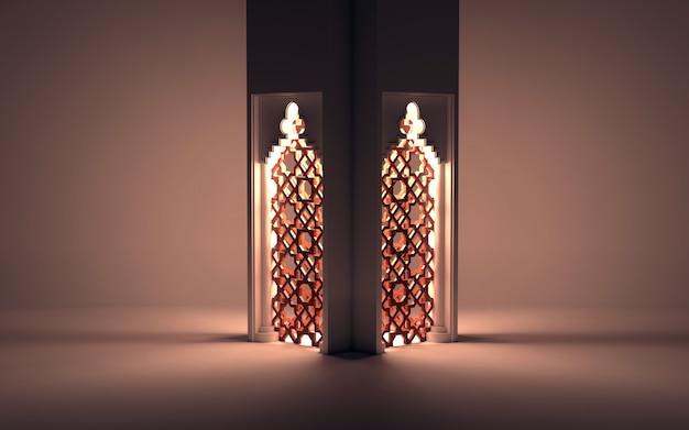 Scène de nuit islamique avec lanterne