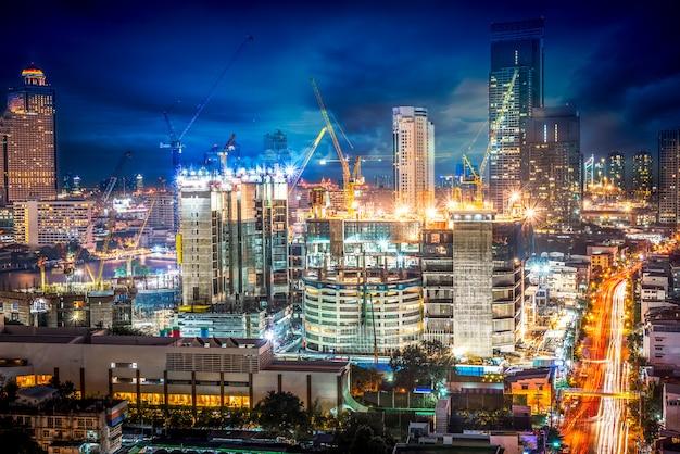 Scène de nuit paysage urbain