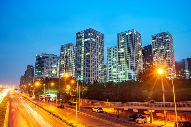 Scène de nuit de la ville de beijing
