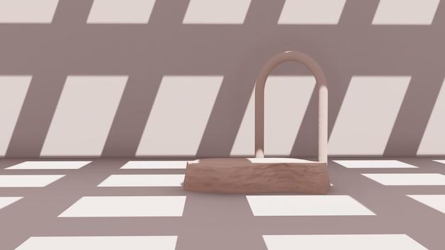 Scène de podium abstraite maquette podiupremium pour support de produit d'affichage, scène de rendu 3d.m scène pour support de produit d'affichage, scène de rendu 3d.