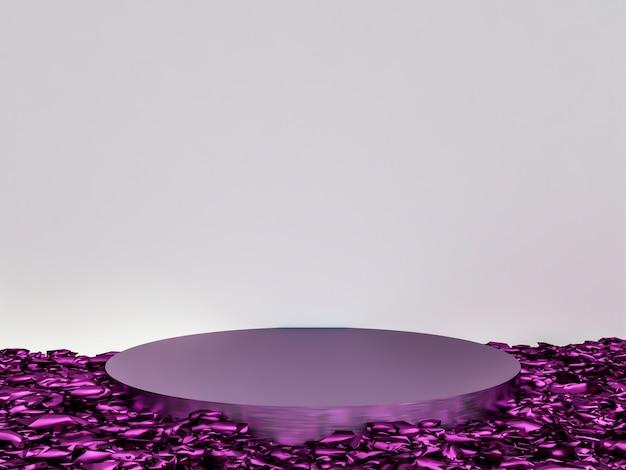Scène avec podium pour présentation dans un style minimal 3d rendu abstrait design