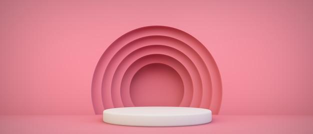 Scène de présentation du produit rose