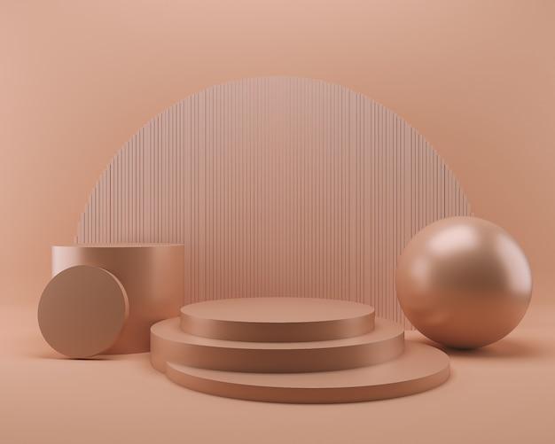 Scène de présentation de produit podium abstrait pastel, illustration 3d de fond minimal.