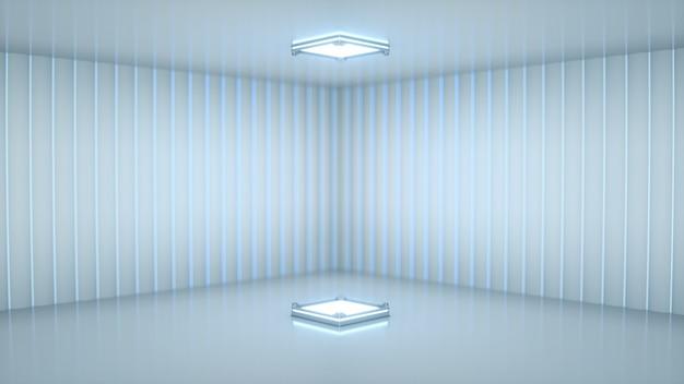 Scène avec projecteur blanc