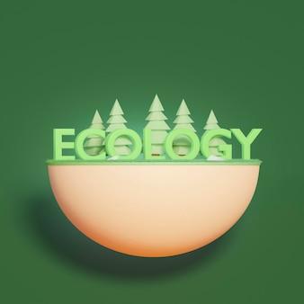 Scène de projet d'environnement 3d