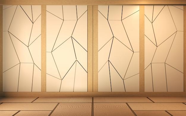 Scène salle vide avec mur design rendu 3d