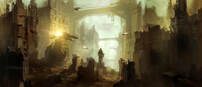 Scène de science-fiction.
