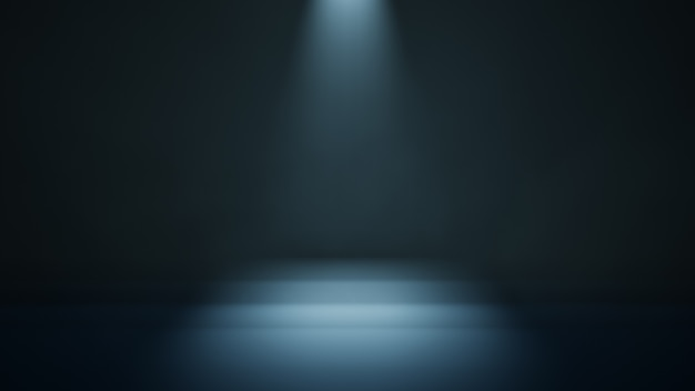 Scène sombre avec un projecteur